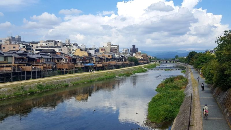 Kyoto Views Cityscape City Outdoors Sky Water Travel Travel Photography Contrast Kyoto, Japan Japan Cityscape Streetphotography Travel Destinations Travelphotography Traveler