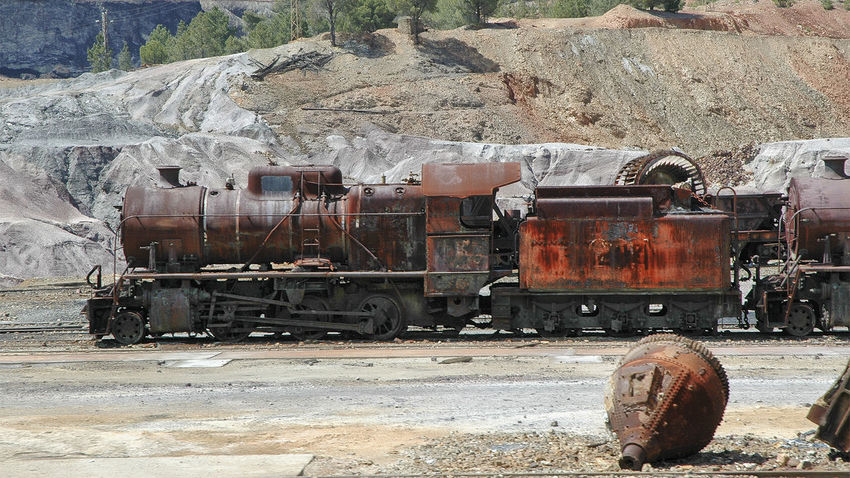 Abandoned Locomotive Minas De Riotinto Riotinto Train - Vehicle Transportation