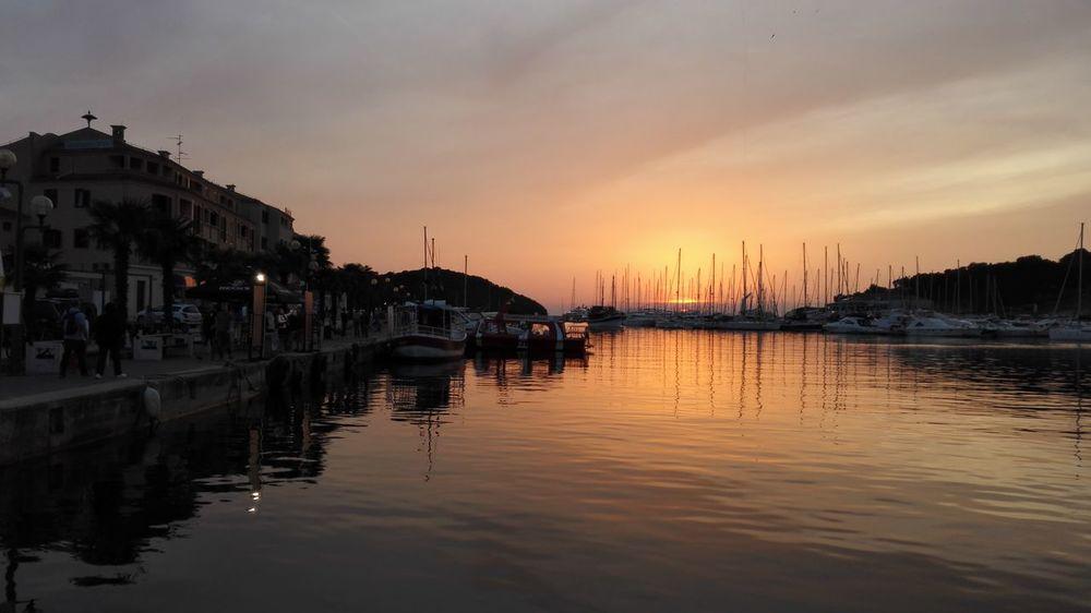 Vrsar Croatia ❤ Orange Color Sky Sunset Water Boat