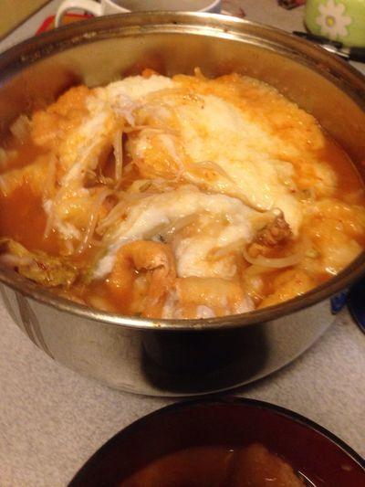 キムチ鍋に山芋おろしていれたったwうまいぞ!