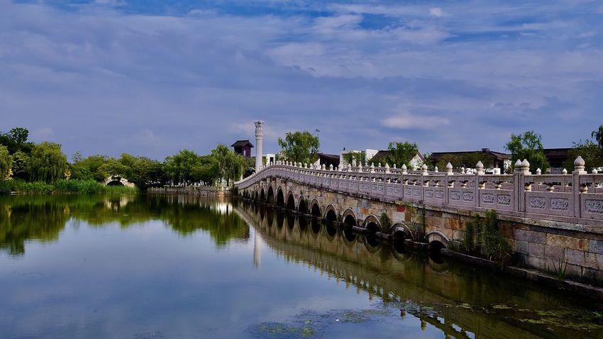 上海松江广富林遗址 Water Sky Cloud - Sky Architecture Nature No People Reflection