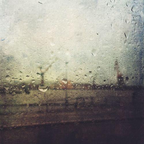 Window Rain Drop Wet Transparent Glass - Material Weather