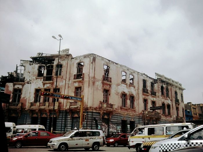 Lima/Perú Architecture No People Burned Building Burned House Burned Out House In The Old Part Of Town.