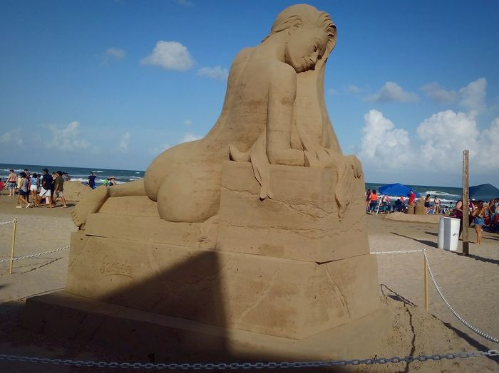 Lady of the Sea Bohochic Freespirit Island Life Texas Beaches Boho Beachbody Sand Sculpture Sand Art Sandcastles Sea Beach Sand Sculpture Statue Arts Culture And Entertainment