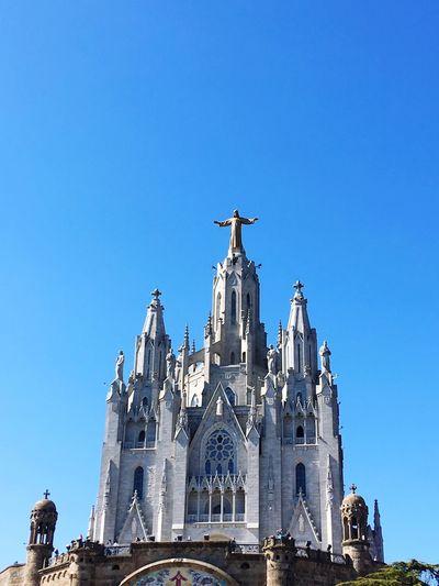 Spain♥ Barcelona, Spain Tibidabo's Church Tibidabo Mountain Architecture Building Exterior Religion Sky Built Structure Place Of Worship Belief
