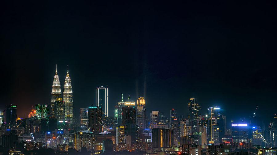 Night city view of kuala lumpur city