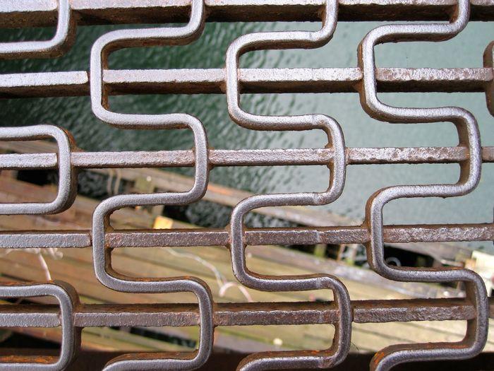 Bridge Over Water Bridges Flooring Gitter High Up Looking Down Backgrounds Bridge Bridge View Close-up Floor Grounds Look Down Metal Metal Grate Metal Industry Metallic Metalwork No People Schwindelfrei Surface Level Water
