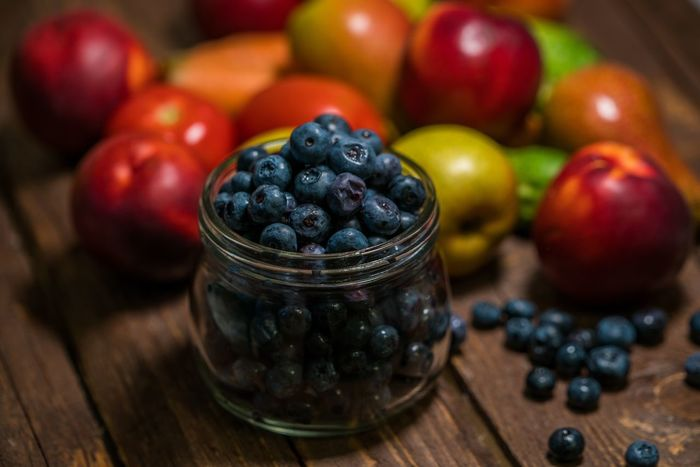Blueberry Close-up Day Food Food And Drink Freshness Fruit Healthy Eating Indoors  No People Table Wood - Material