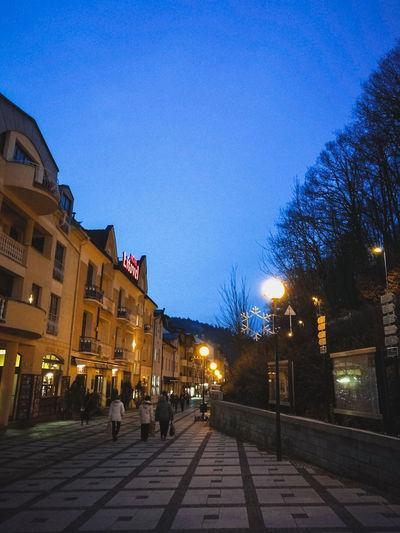 Spa town in Czech republic. Evening Architecture Spa Town Czech Republic