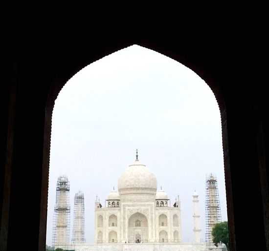 No People Taj Mahal Architecture Dome Historic Historical Building India Tourism Cultures
