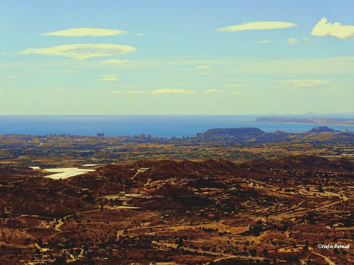 Paisaje campero y maritimo visto desde el mirador de las Cuevas de Canalobre, Busot, Alicante. EyeEm Best Shots EyeEm Nature Lover Streamzoofamily Landscape_Collection