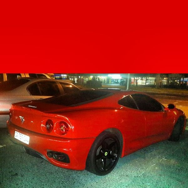 On my eay to buy food and wtf a Ferrari by Nandos Brackenfell Richpeople beautiful shocked