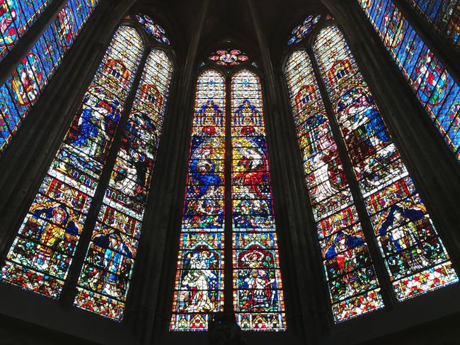 Stained Glass Glass Place Of Worship Window Religion Multi Colored Spirituality