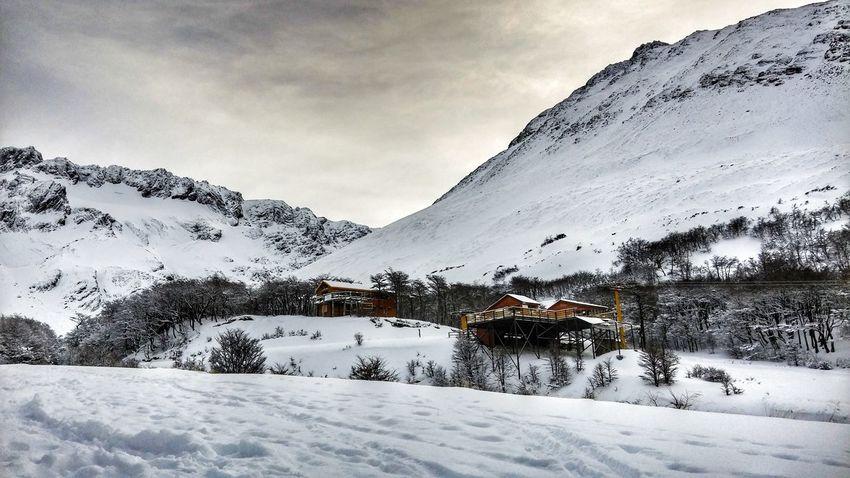 Ski Lodge Mountains Winter Snow Ushuaia Argentina