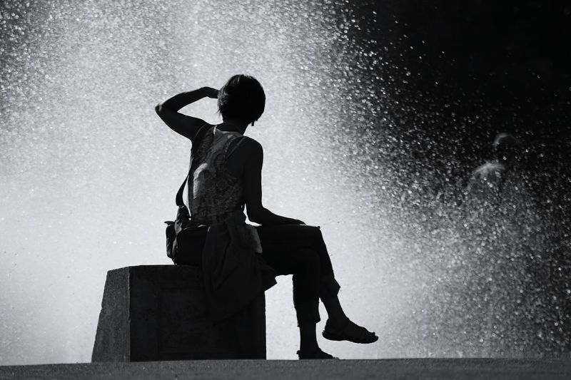 Essence Of Summer, Woman At The Fountain, summer, , Fine Art Photography Welcome To Black Black And White Friday