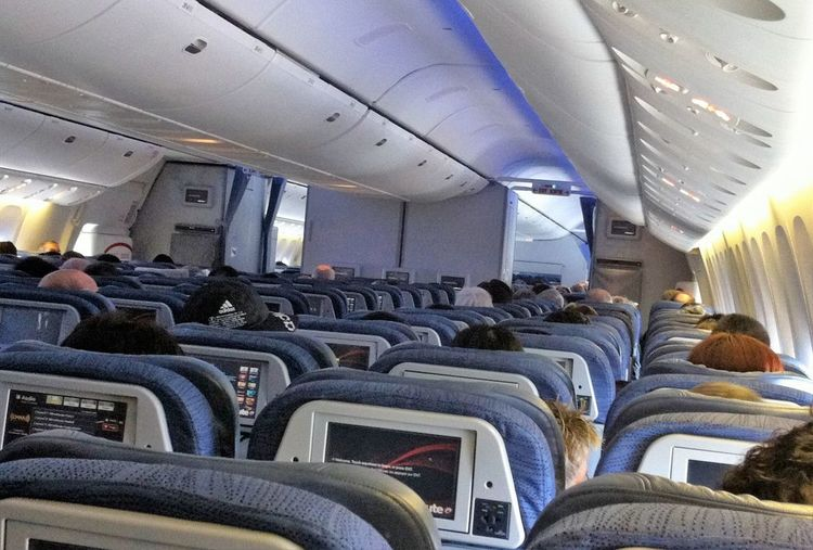 Airplane Interior Arrangement Business Cabincrew Comfortable Heads Directly Above Indoors  Order Repetition Side By Side