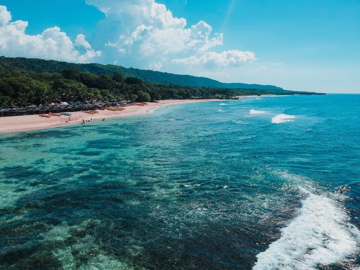 Perspectives On Nature Sea Beach Water Nature Tranquility Tranquil Scene Scenics Outdoors Day Blue Cloud - Sky Horizon Over Water Mountain
