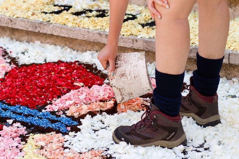 Infiorata Art Real People Lifestyles One Person Low Section Human Body Part Women Day