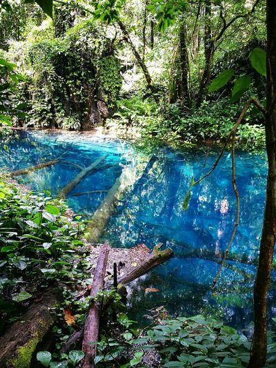 Blue Water Lake In Myanmar Shan State Near Ywa Ngan