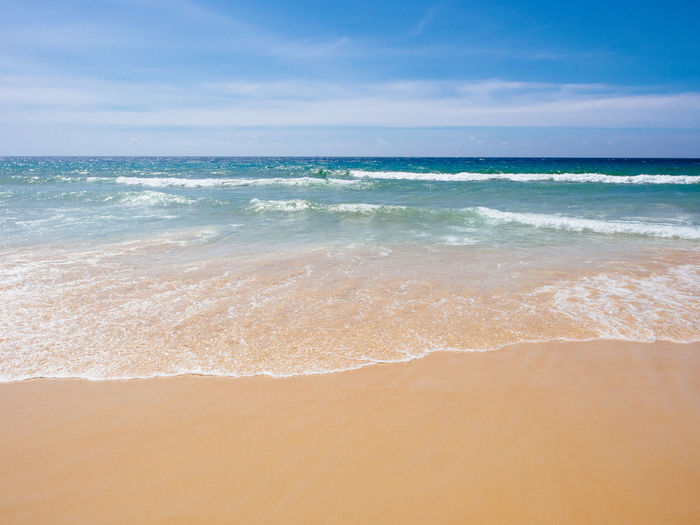 Karon Beach Sea Beach Outdoors Nature Wave Sand Scenics - Nature Water Tranquility Thailand Vacations Travel Destinations Sandy Beach Karon Beach Phuket