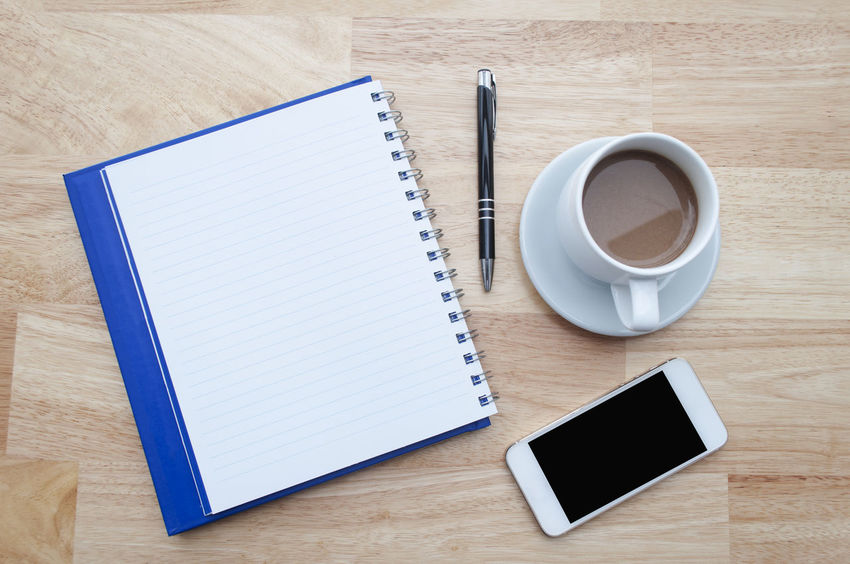 Archival Ballpoint Pen Blank Coffee - Drink Coffee Cup Cup Day Desk Diary Drink High Angle View Horizontal Indoors  No People Note Pad Office Paper Pen Reminder Skill  Spiral Notebook Wood - Material Working Writing Instrument