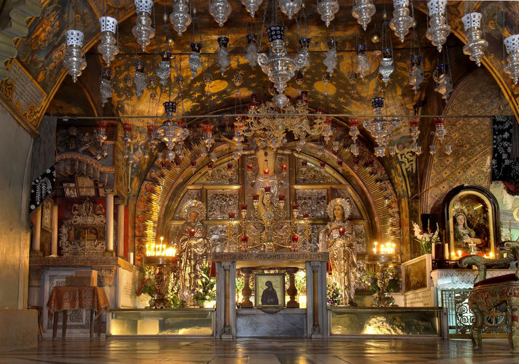 Altar At Church Of The Holy Sepulchre