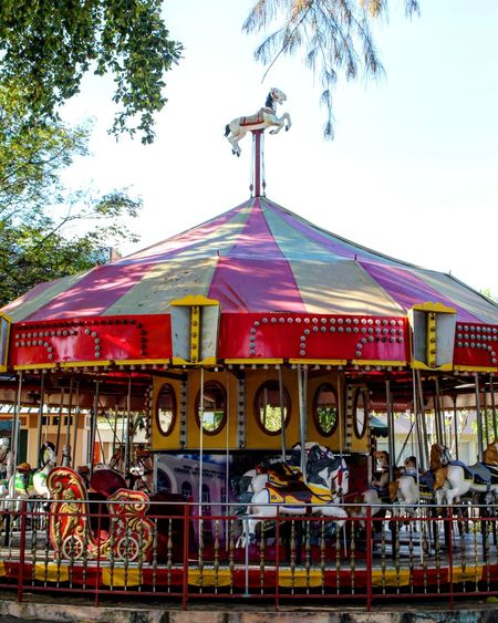 Sky Carousel Entertainment Tree Colors Outdoors City Tree No People Arts Culture And Entertainment Amusement Park Architecture Day Old-fashioned Puerto Rico