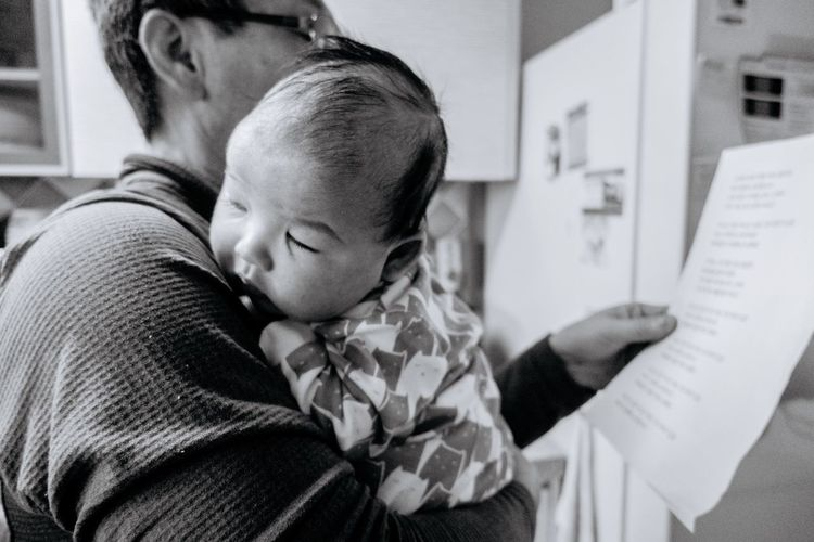 Family Blackandwhite Childhood Indoors  Togetherness Real People Baby Family With One Child Love Men Bonding Women Day Close-up Adult People