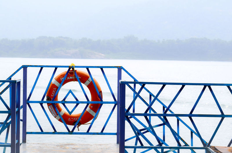 Water Rescue Sea Life Belt Protection Safety Security Sky Lifeguard  Boat Boat Deck Foggy Holiday Moments EyeEmNewHere