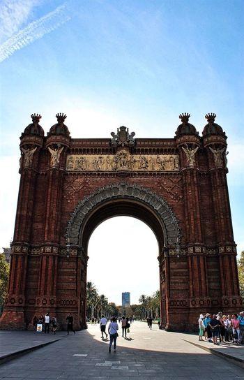 Amazinggirl Arch Architecture Barcelona Built Structure City Day Destination SPAIN Tourism Travel Destinations Triumphal Arch