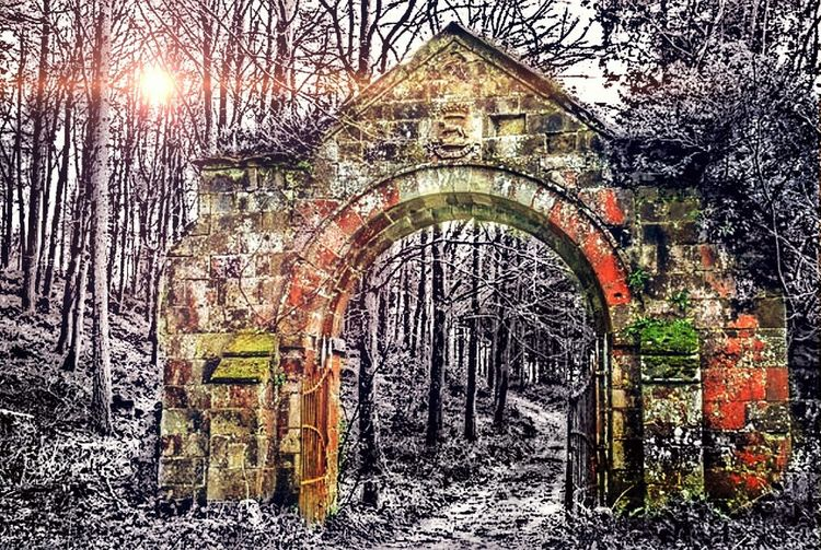 Built Structure Arch No People Old-fashioned Cold Days Weak Sun Darkness And Light