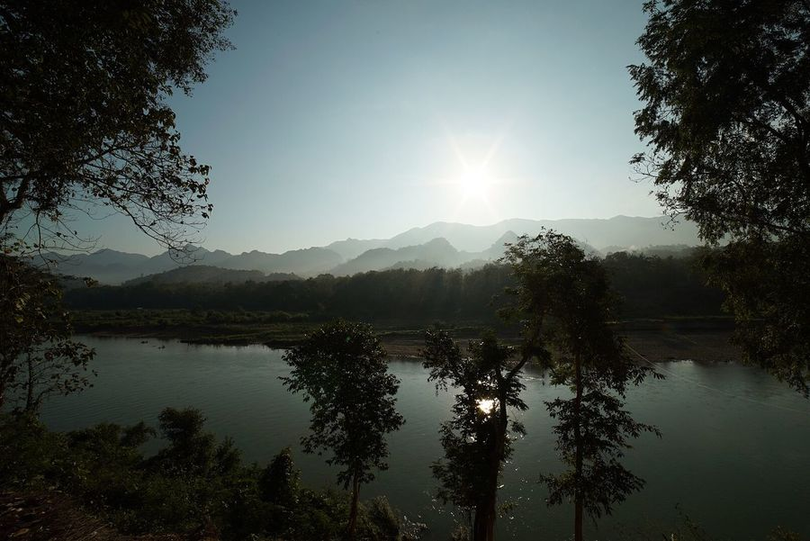 Beauty In Nature Day Growth Jungle Lake Landscape Landscape_Collection Mountain Mountain Range Nature No People Outdoors Reflection Scenics Sky Sun Tranquil Scene Tranquility Tree Water
