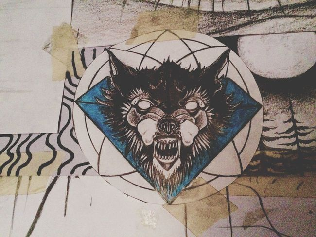 A piece of my wall Roomdecor Mywall Wall Drawing Drawings Wolf Roomstyle