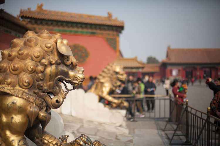 Bronze Statues At Forbidden City