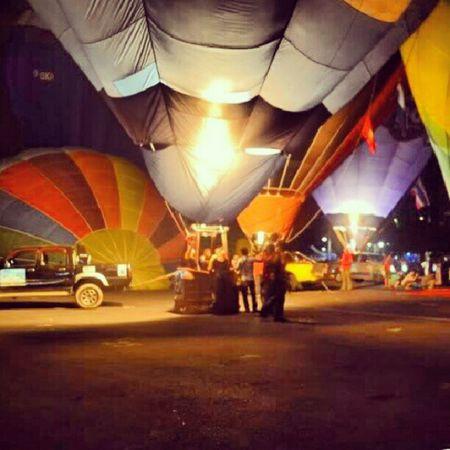 Rehearsal hot balloon at Putrajaya Karnival WOW
