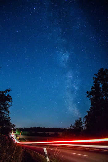 Astronomy Canon Constellation Galaxy Lightpainting Lightpaintingphotography Milky Way Nature Night Night Lights Night Photography Nightlife Nightphotography No People Outdoors Sky Space Space And Astronomy Star - Space Stars Traveling Traveling Home For The Holidays Tree Way Home Way To Go Home EyeEmNewHere