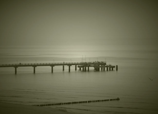 Bridge Built Structure Horizon Over Water Nature No People Scenics Sea Tranquility Usedom Water EyeEmNewHere