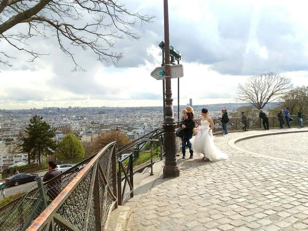 Cloud - Sky Sky Water Scenics Cloud Observation Point Cloudy Tranquil Scene Lamp Post Nature Day Tranquility Sea Beauty In Nature Outdoors Storm Cloud The Way Forward Footpath Weddingphotography Wedding Dress Weding