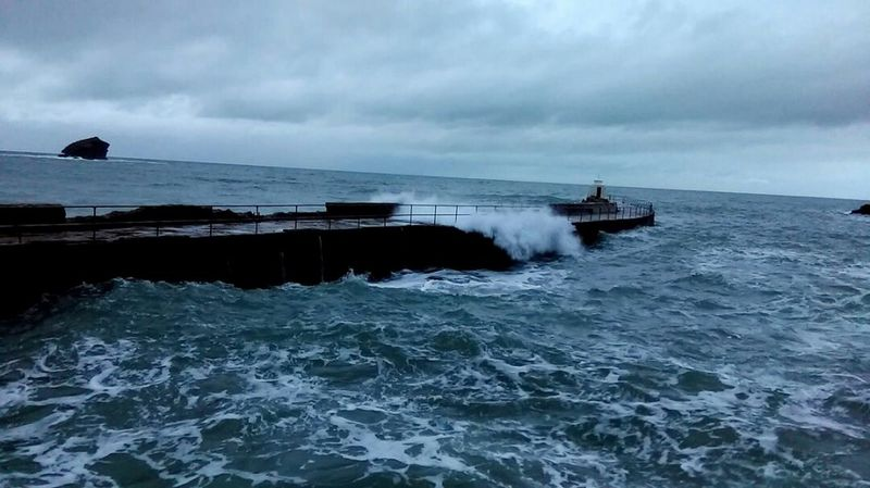 High tide portreath harbour wall Sea Nautical Vessel Horizon Over Water Outdoors Cloud - Sky No People Nature Day Water Sky Spring Tides High Tide Beauty In Nature Splashing Nature Portreath Kernow Cornwall Uk Cornwall Taking Photos Androidography Phonecamera Storm