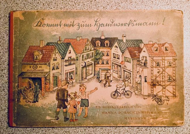 No People Day King - Royal Person Outdoors Kinder Buch Handwerk Zeichnung Grafik 1942 Kids Come with me to the craftsman germany