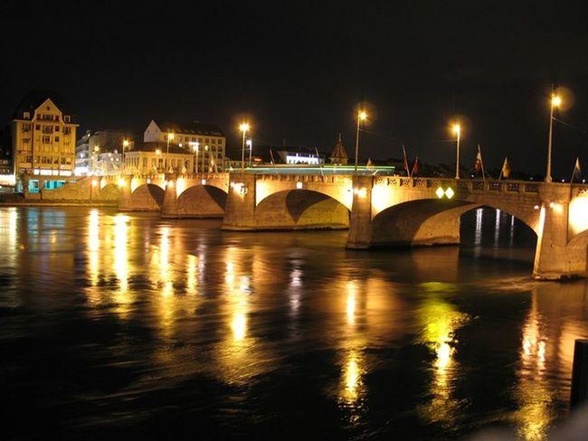 Architecture Basel Basel, Switzerland Basilea Bridge City Life Night River River First Eyeem Photo