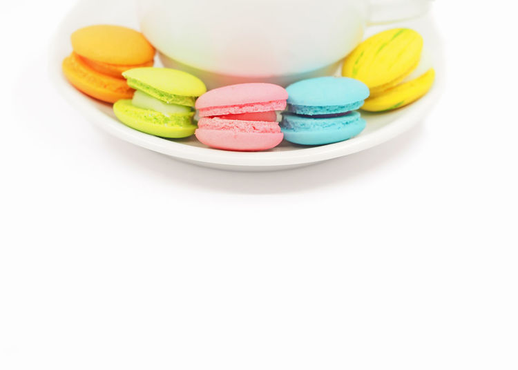 Multi colored candies in plate