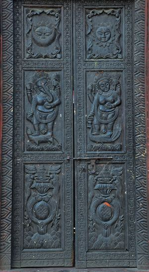 God Wood Architecture Building Exterior Built Structure Carved Wood Close-up Door Entrace Full Frame Sculpture Temple