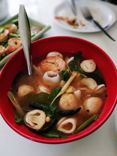 Soup Food Food And Drink Bowl Winter Vegetable Chopsticks Dumpling  No People Soup Bowl Ready-to-eat Indoors  Day Spicy Thai Food Thai Foods Thai Style Healthy Lifestyle Good Taste:) Meal Healthy Eating Tom Yum Goong Tom Yam Tomyumkung