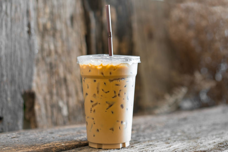 iced latte coffee Cafe Close-up Coffee Cold Day Focus On Foreground Freshness Full Indulgence Latte No People Refreshment Selective Focus Still Life Yellow