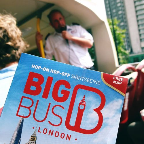 Big Bus London Bigbustour London Hoponhopoff Hoponhopoffbuses Bus Guide Tourguide Leaflet Doubledecker Bustour Sightseeing Sightseeing Tour Vacation Holiday