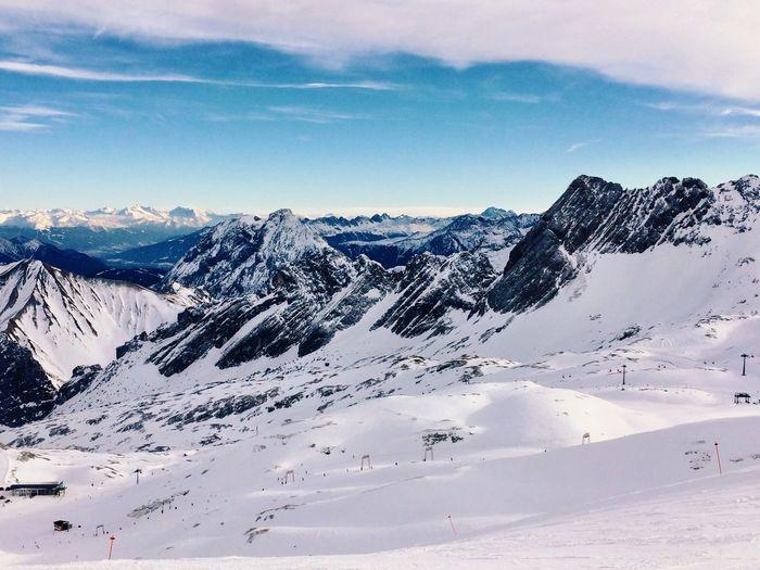 Mountain Ski Snow Winter Zugspitze