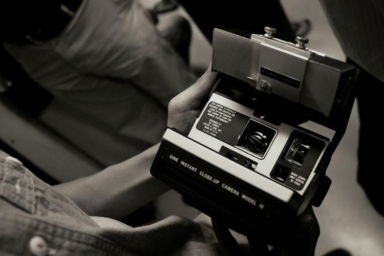 Polaroid. Polaroid Vintage B&w B&w Photography Train Dine Instant