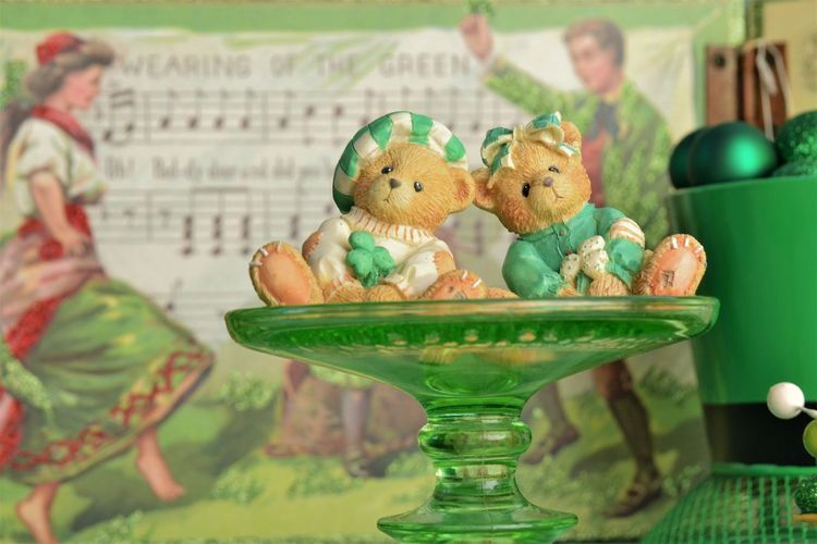 Close-Up Of Figurines On Plate