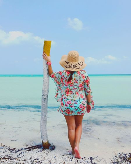 Beach times.. Sea Beach Horizon Over Water One Person Sky Hat Sand Sun Hat Cloud - Sky Real People Full Length Water Day Outdoors Leisure Activity Vacations Standing Scenics Beauty In Nature Holbox The Paradise Holbox Island Mexico Visitmexico